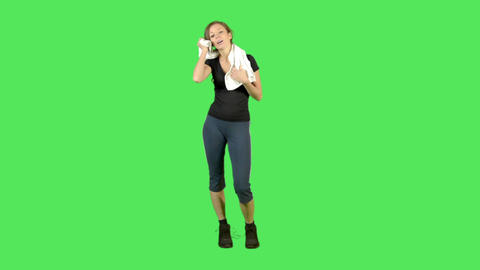 Female Doing Exercise stock footage