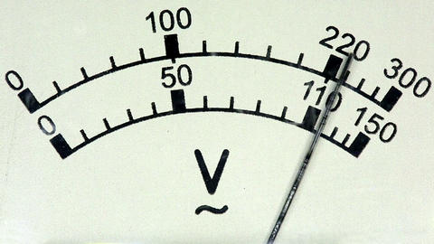 old analog voltmeter, FULL HD Footage
