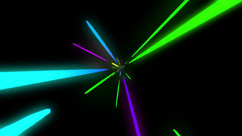 loopable colorful neon line HD Animation