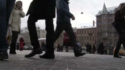 Busy People Walking Footage
