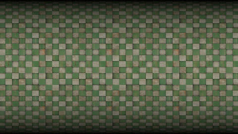 3d square mosaic tiled metal rusty grunge pattern Animation
