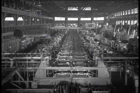 American car and automobile factory workings at th Footage