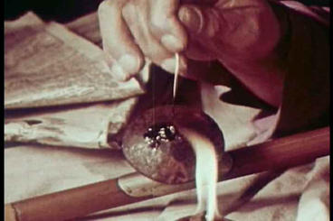 Black Opium Is Smoked In This 1951 Drug Prevention stock footage
