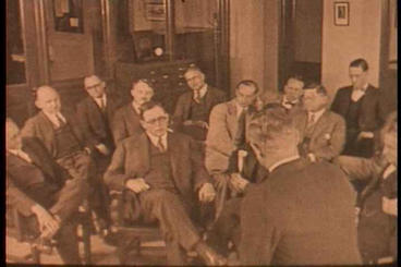 Businessmen And Bankers Gather To Hear About A Fin stock footage