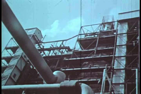 The basic workings of a crude oil refinery from th Footage