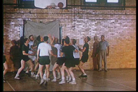 A very good montage of 1950s sports, at schools an Footage
