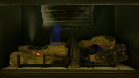 Fireplace 01A (Looping, High Definition) Stock Video Footage