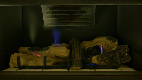 Fireplace 01A (Looping, High Definition) Footage