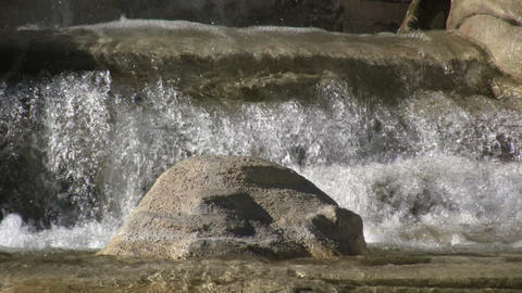 Water is falling down this beautiful fountain (High... Stock Video Footage