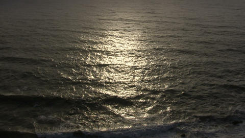 Sunlight reflects on the ocean surface Stock Video Footage