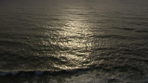 Sunlight reflects on the ocean surface Footage
