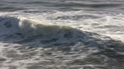 Closeup shot of ocean wave as it travels towards shore Stock Video Footage