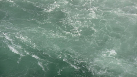 Turbulent river quickly flows in this water scenic (High Definition) Footage