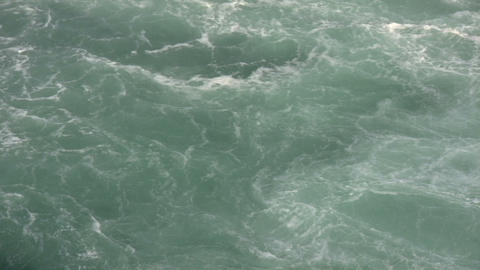 Turbulent river quickly flows in this water scenic (High... Stock Video Footage