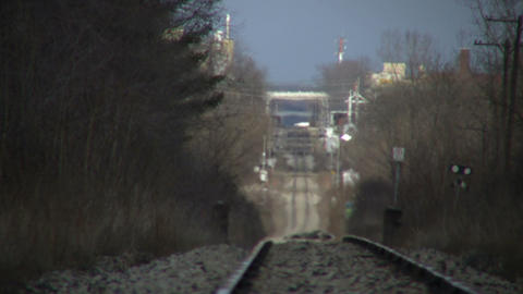 Scenic of train tracks moving into distance (High Definition) Footage