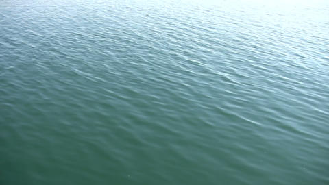 Beautiful scenic of calm blue water (High Definition) Stock Video Footage