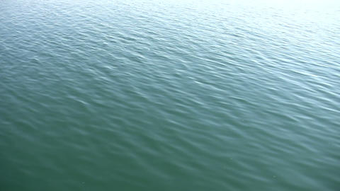 Beautiful scenic of calm blue water (High Definition) Footage