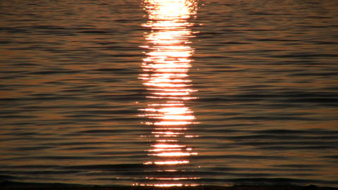 sun is reflected off surface of the water (High Definition) Stock Video Footage