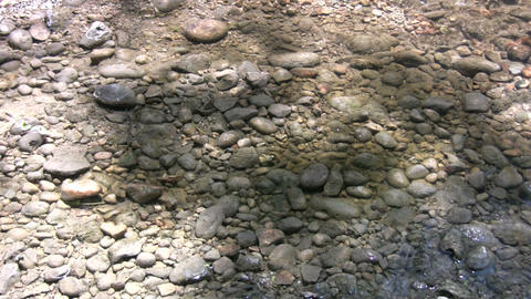 Rocks are visible through the water's clear surface (High... Stock Video Footage
