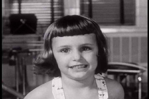 A devastating shot of a pretty little girl stricke Footage