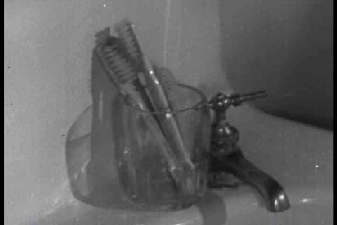 A 1939 dental hygiene film explains good practices Footage