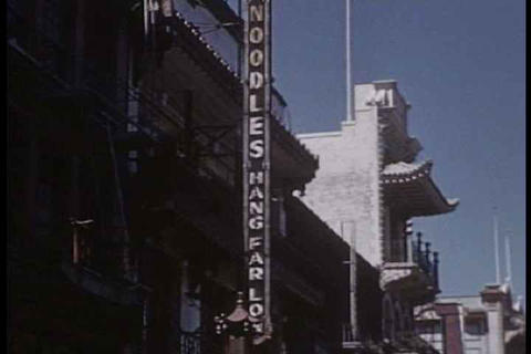 Home movie shots of San Francisco streets and land Footage