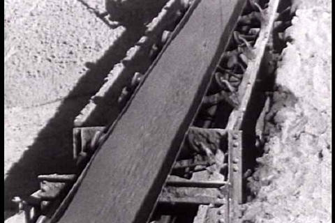 The construction of the Boulder Dam project in 193 Footage