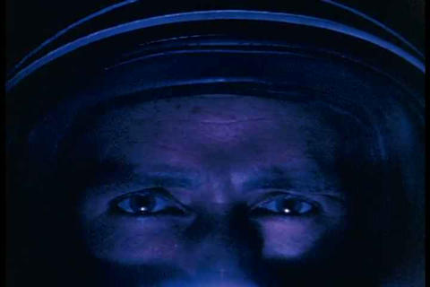 A close up of an astronaut as he contemplates bein Footage