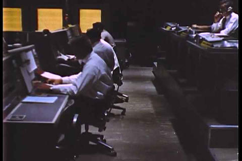 Mission control at NASA on the Mercury Project Live Action