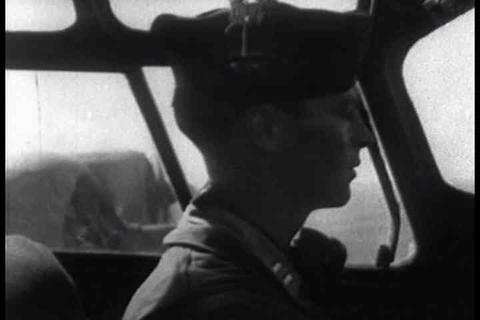 The bombing raid on Naples during World War Two, i Footage