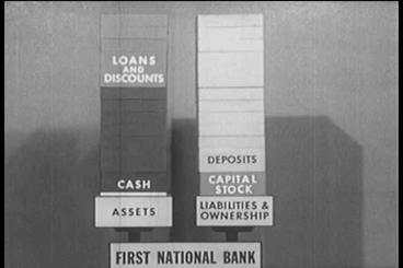 Banks Use The Deposits To Invest In Stocks And Bon stock footage