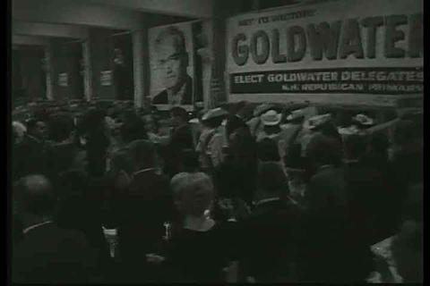 Goldwater campaigns and gives speech about the Uni Footage