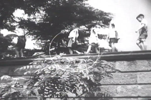 A montage of children's activities in Japan after  Footage