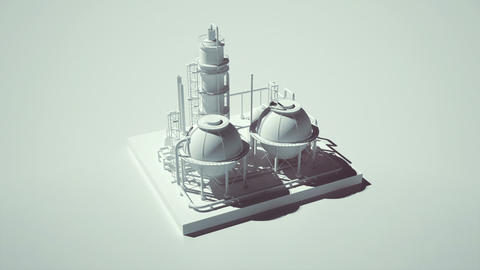 3D illustration of an industrial plant Animation