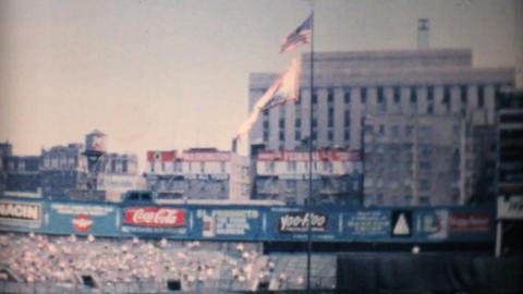 Beautiful Ballpark At Professional Baseball Game Footage
