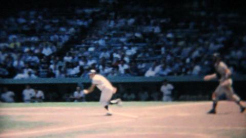 Professional Baseball Game Batter Hitting Ball 196 Footage