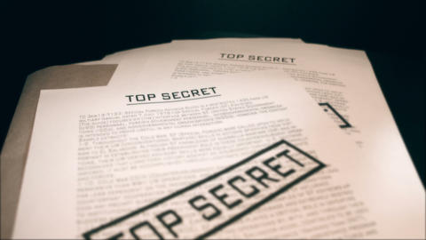 Top secret documents Stock Video Footage