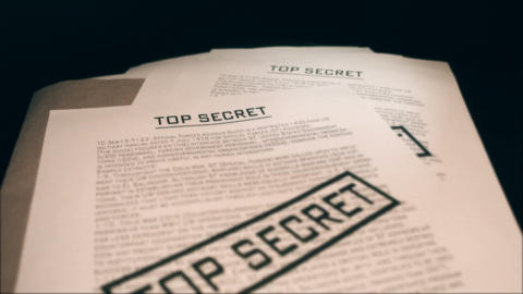 Top secret documents Footage