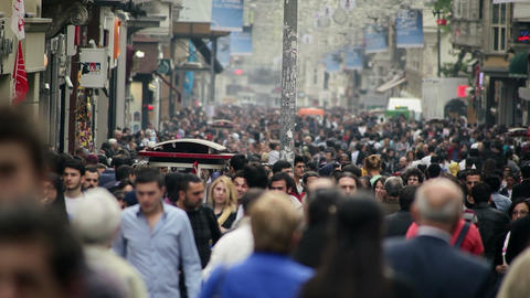 Crowded Street stock footage