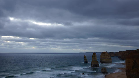 Twelve Apostles Monuments, Australia stock footage