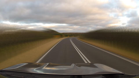 Driving On Road #4 stock footage