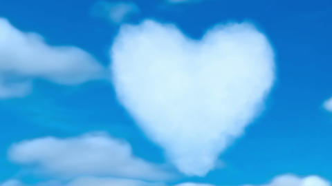 Heart in clouds Animation
