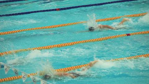 finish sports swimming Footage