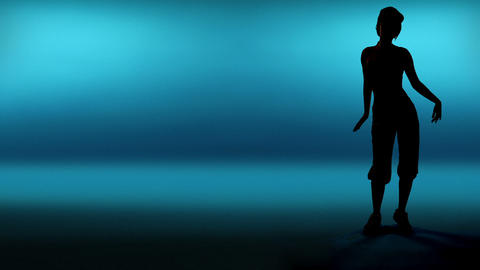 Silhouette Woman Dancer stock footage
