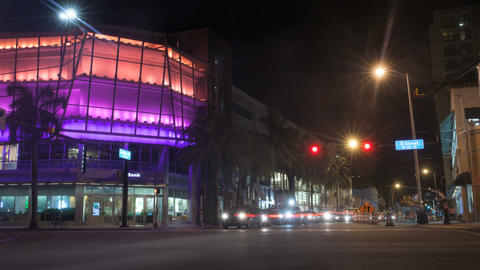Timelapse Of Miami Beach Street stock footage