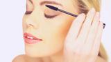Beauty Woman Applying Mascara stock footage