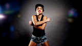 Woman Hip Hop Dancing stock footage