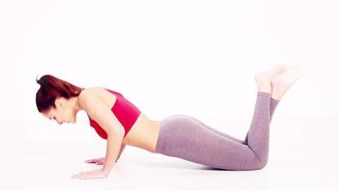 Bitilasana yoga pose Footage