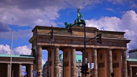 The Brandenburg Gate ( Brandenburger Tor), attract Footage
