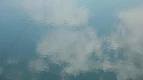 Reflection of clouds in water 影片素材